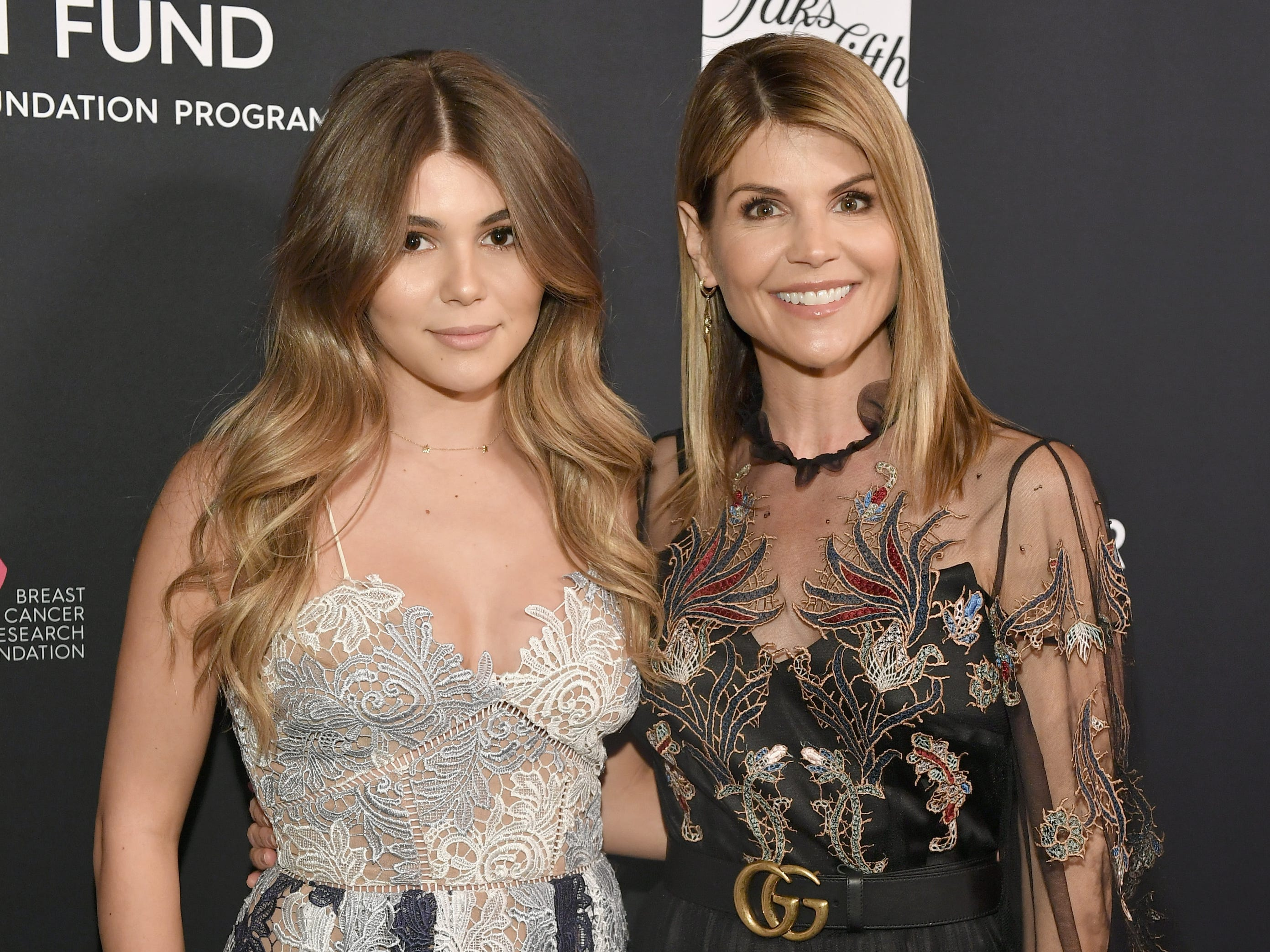"""Olivia Giannulli, left, and Lori Loughlin attend WCRF's """"An Unforgettable Evening"""" Presented by Saks Fifth Avenue on Feb. 27, 2018, in Beverly Hills, Calif."""
