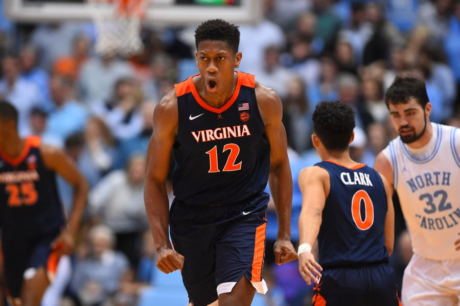 Virginia Cavaliers guard De'Andre Hunter.