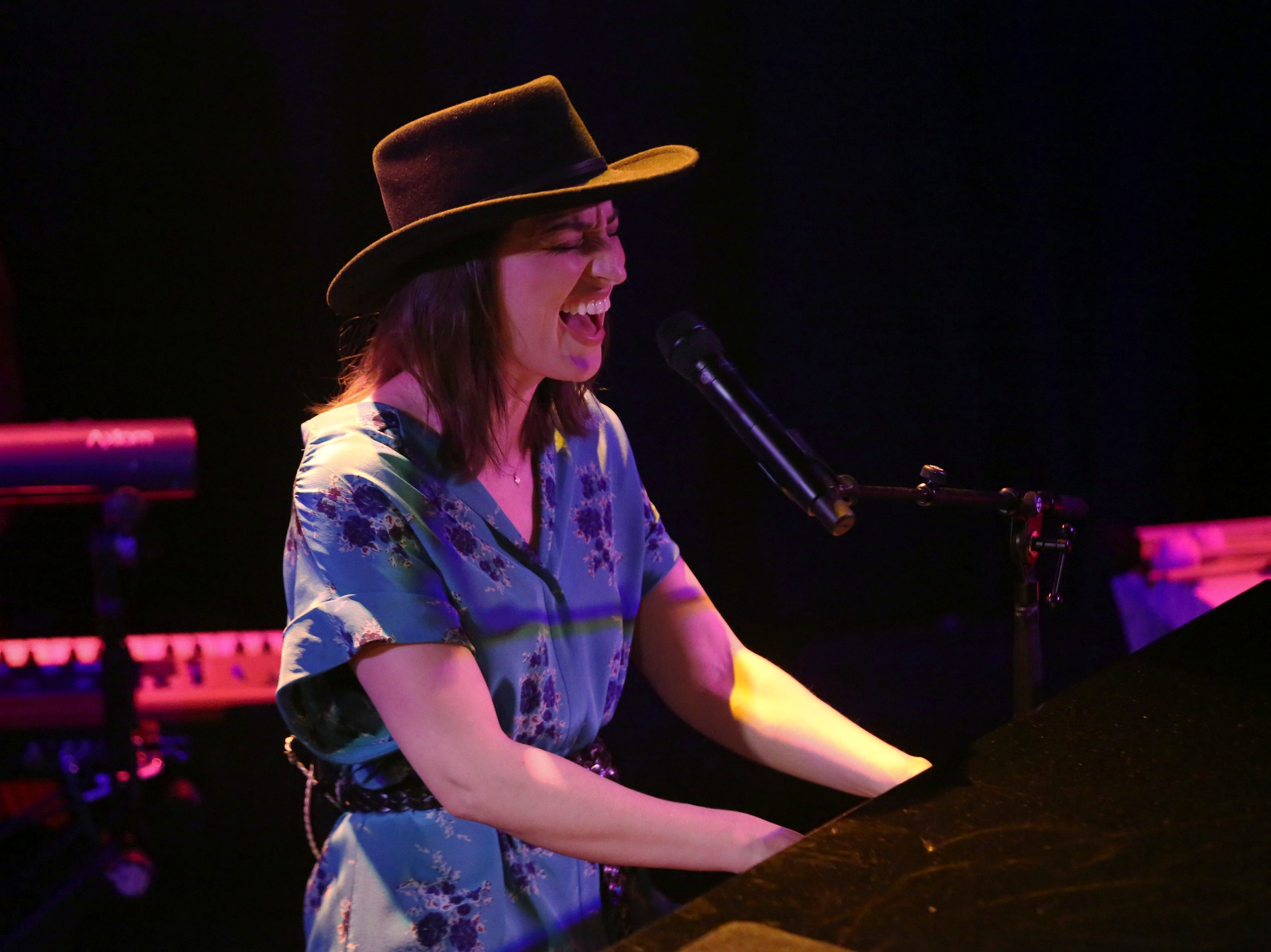 Sara Bareilles performs at the Troubadour on Tuesday, March 19, 2019, in West Hollywood, Calif. (Photo by Willy Sanjuan/Invision/AP) ORG XMIT: CAWS102