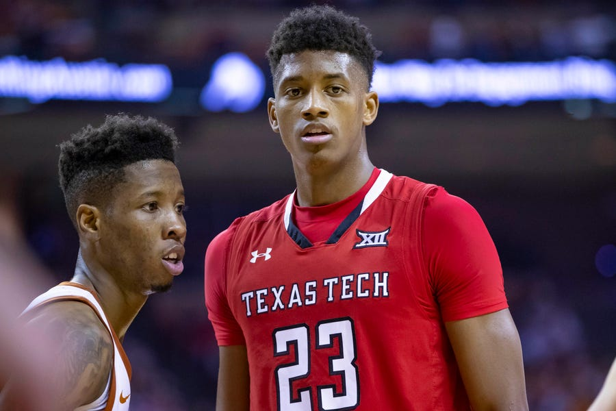 Texas Tech Red Raiders guard Jarrett Culver.