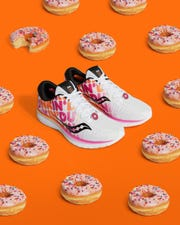 Dunkin' and Saucony have a new special-edition doughnut-inspiredsneaker.