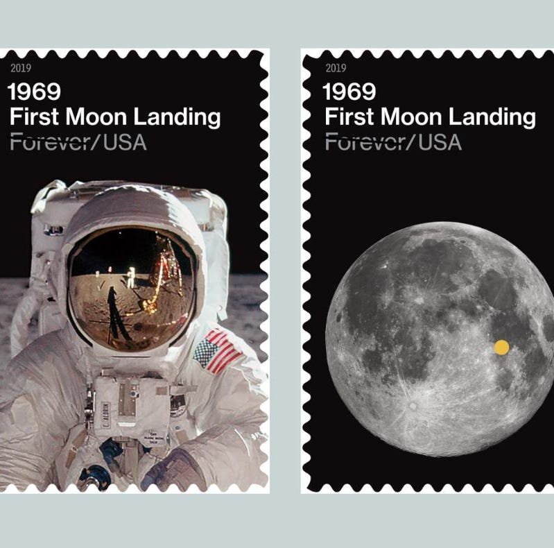 U.S. Postal Service reveals new stamp designs to honor 50th anniversary of Apollo 11