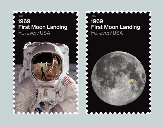 "U.S. Postal Service reveals ""1969: First Moon Landing"" Forever stamps"