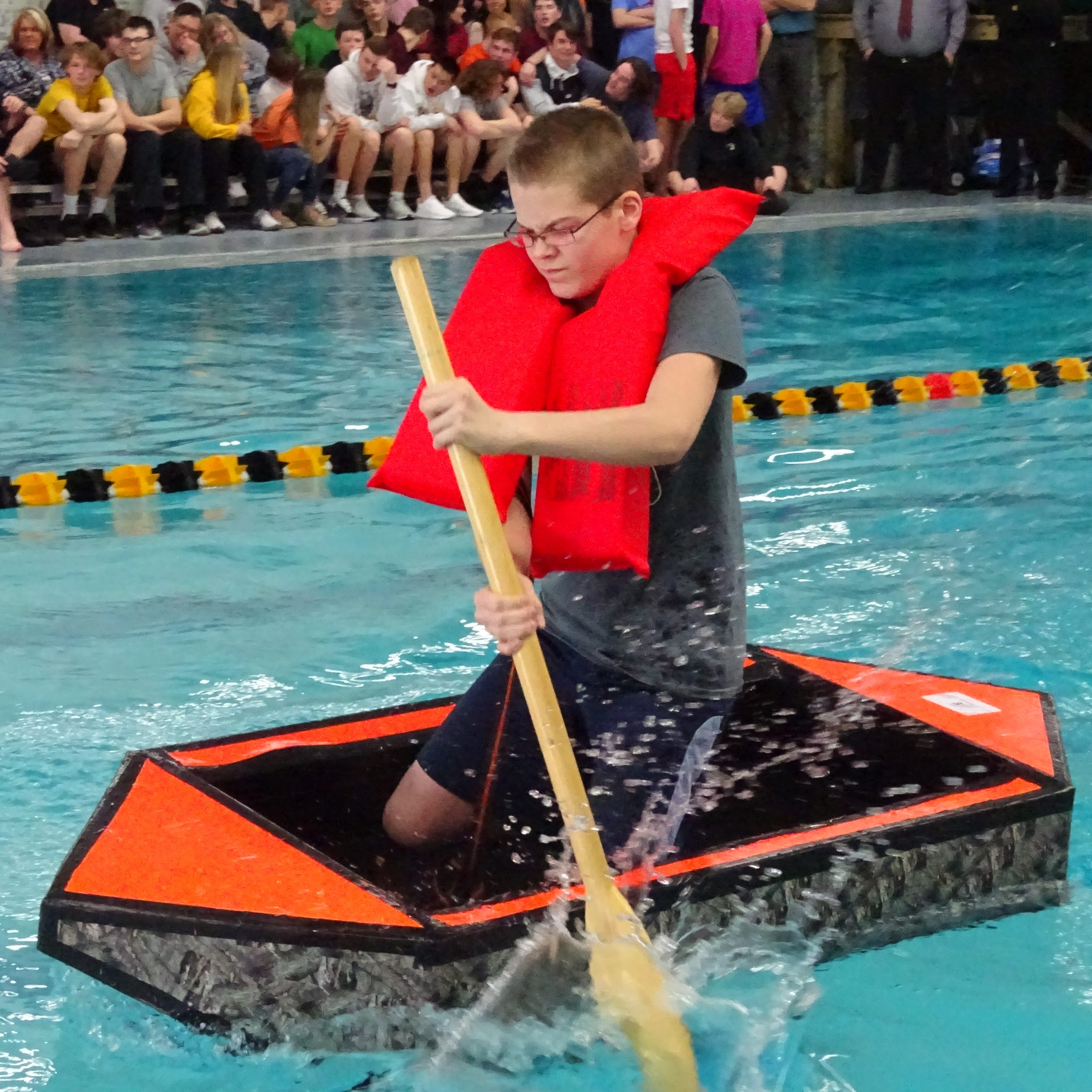 Creativity and duct tape rule at annual Cardboard Boat Regatta