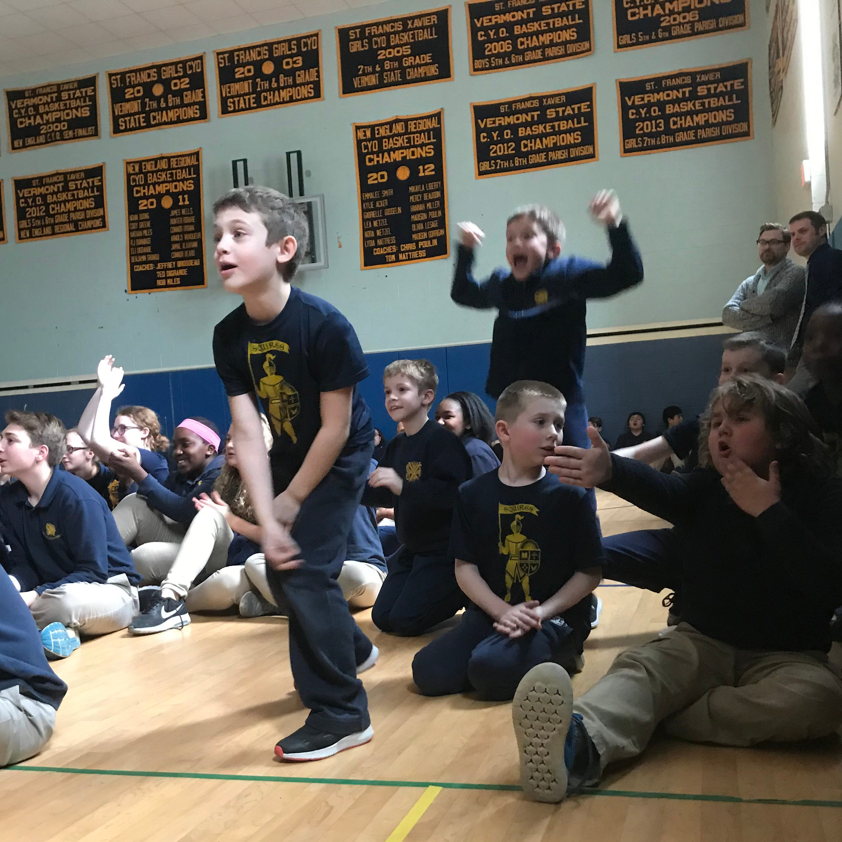 UVM star Ben Shungu's elementary school in Winooski skipped class to watch the game