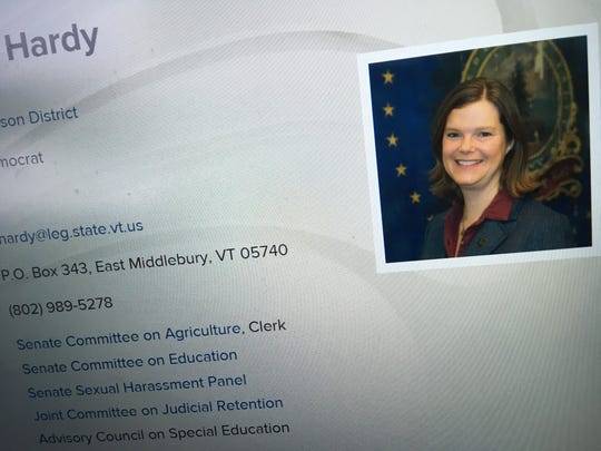 Sen Ruth Hardy of Addison County, as shown by her Vermont Legislature profile on March 21, 2019.