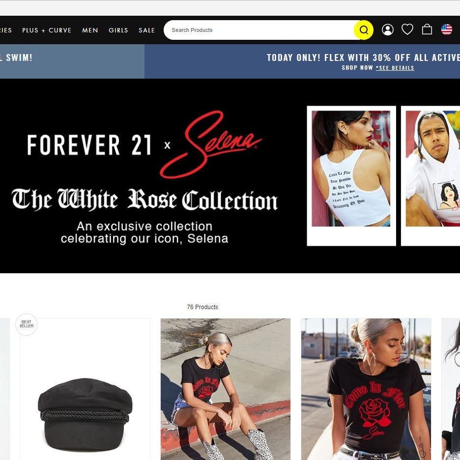 Forever 21 debuts Selena collection 'The White Rose' in stores, online