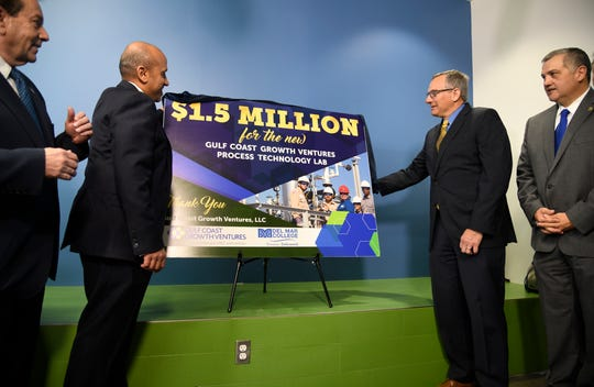 """Gulf Coast Growth Ventures makes """"history making"""" $1.5 million donation to Del Mar College on Thursday, March 21, 2019, at the college."""