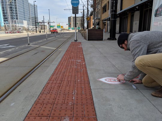 The Cincinnati Bell Connector is inviting people to leave their mark – in chalk – on streetcar stations in celebration of Reds' Opening Day Thursday, March 28.