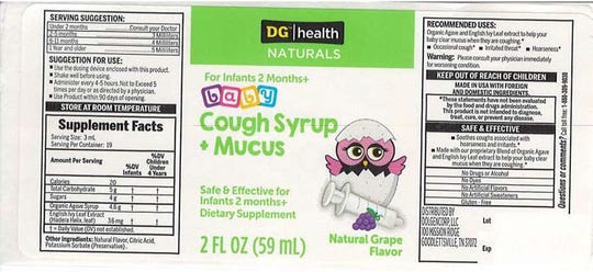 A brand of baby cough syrup sold at Dollar General stores nationwide has been recalled due to potential contamination that causes vomiting and diarrhea.