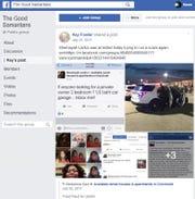 Screenshot of the Good Samaritans Facebook page.