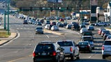 Traffic lines up at intersections of roads that will see future work projects in plans to alleviate congestion.