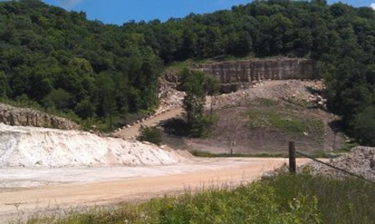 An entrance on the west end of a Pattison Sand Co. mine in rural Clayton County, Ia., near the small town of Clayton, in this June 24, 2014, photo. Pattison produces industrial sand for the natural gas and oil industries.