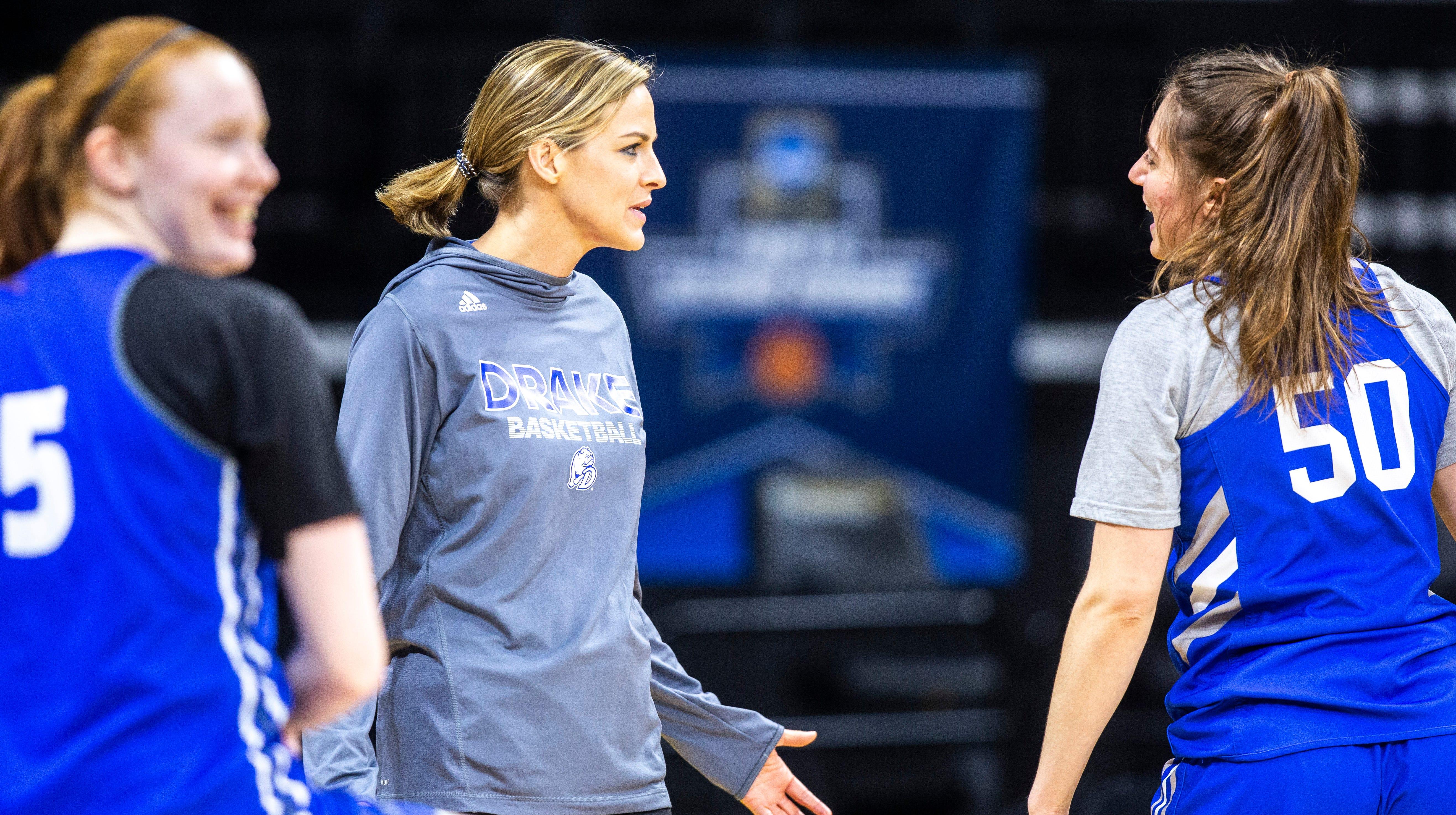 Drake women's basketball first-round practice day in Iowa City