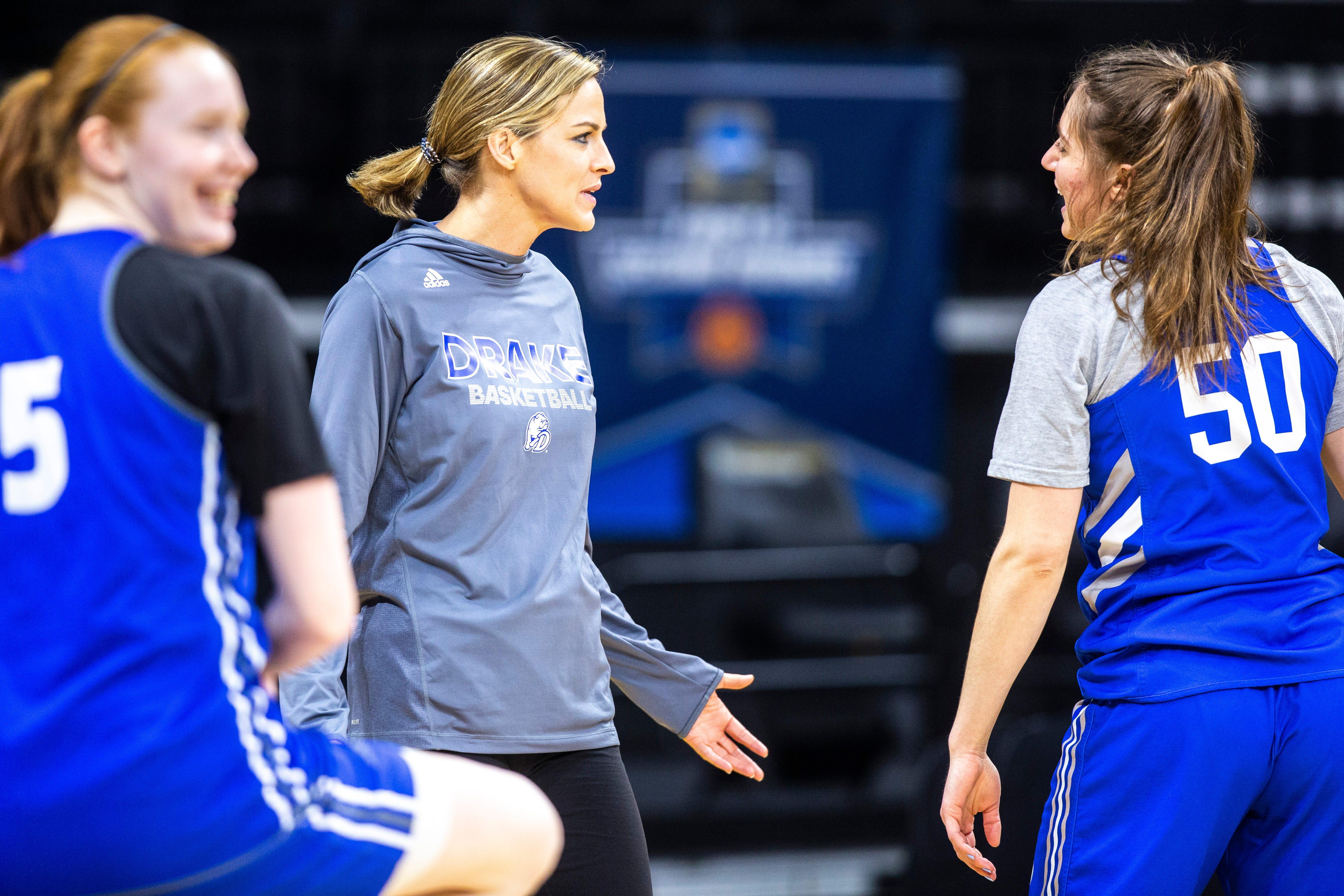 Photos: Drake Bulldogs women's basketball first-round practice day in Iowa City