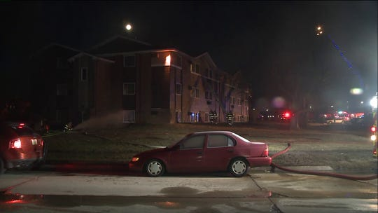 At least four people were hospitalized after an early morning fire broke out at a three-story apartment building in Ankeny on Thursday, March 21, 2019.
