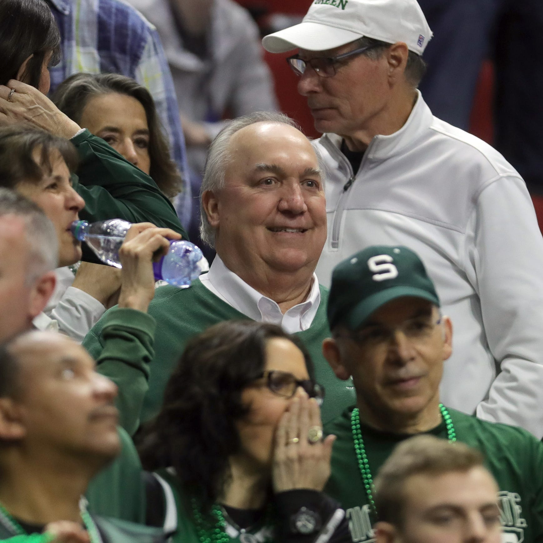 John Engler sidesteps questions before Michigan State's NCAA opener