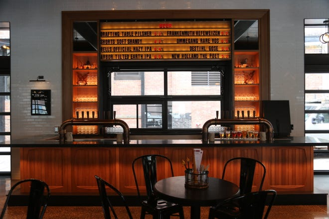 The beer bar at the Brakeman, a beer hall from NoHo Hospitality opening at the Shinola Hotel in Detroit March 25, 2019.