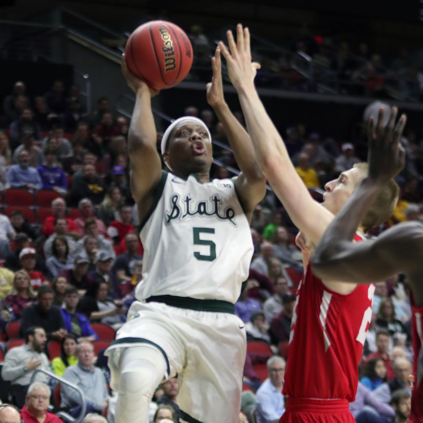 Michigan State basketball survives to beat Bradley, 76-65, in NCAA tournament