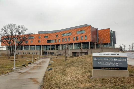The Human Health building at Oakland University in Rochester on Wednesday, March 13, 2019.