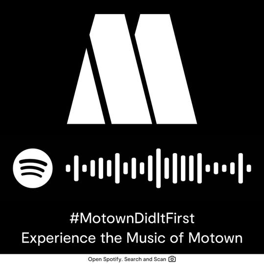 Users of the Spotify app can scan this code for a selection of Motown song playlists, created for the Grammy Museum's new Motown exhibit.