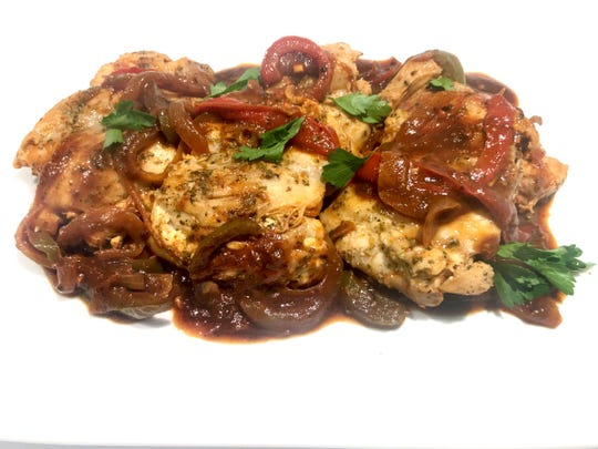 Cacciatore-Style Chicken and Peppers