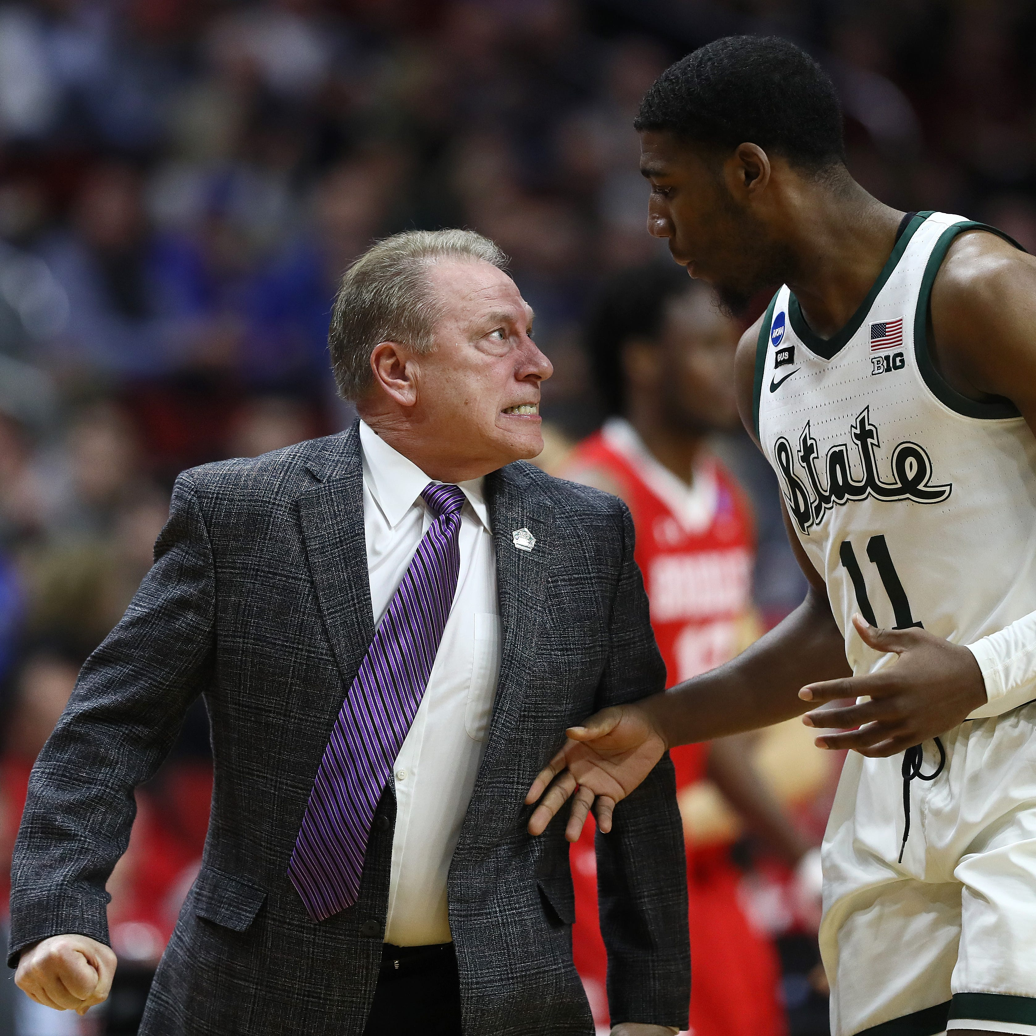 Tom Izzo had some epic outbursts in Michigan State's win over Bradley