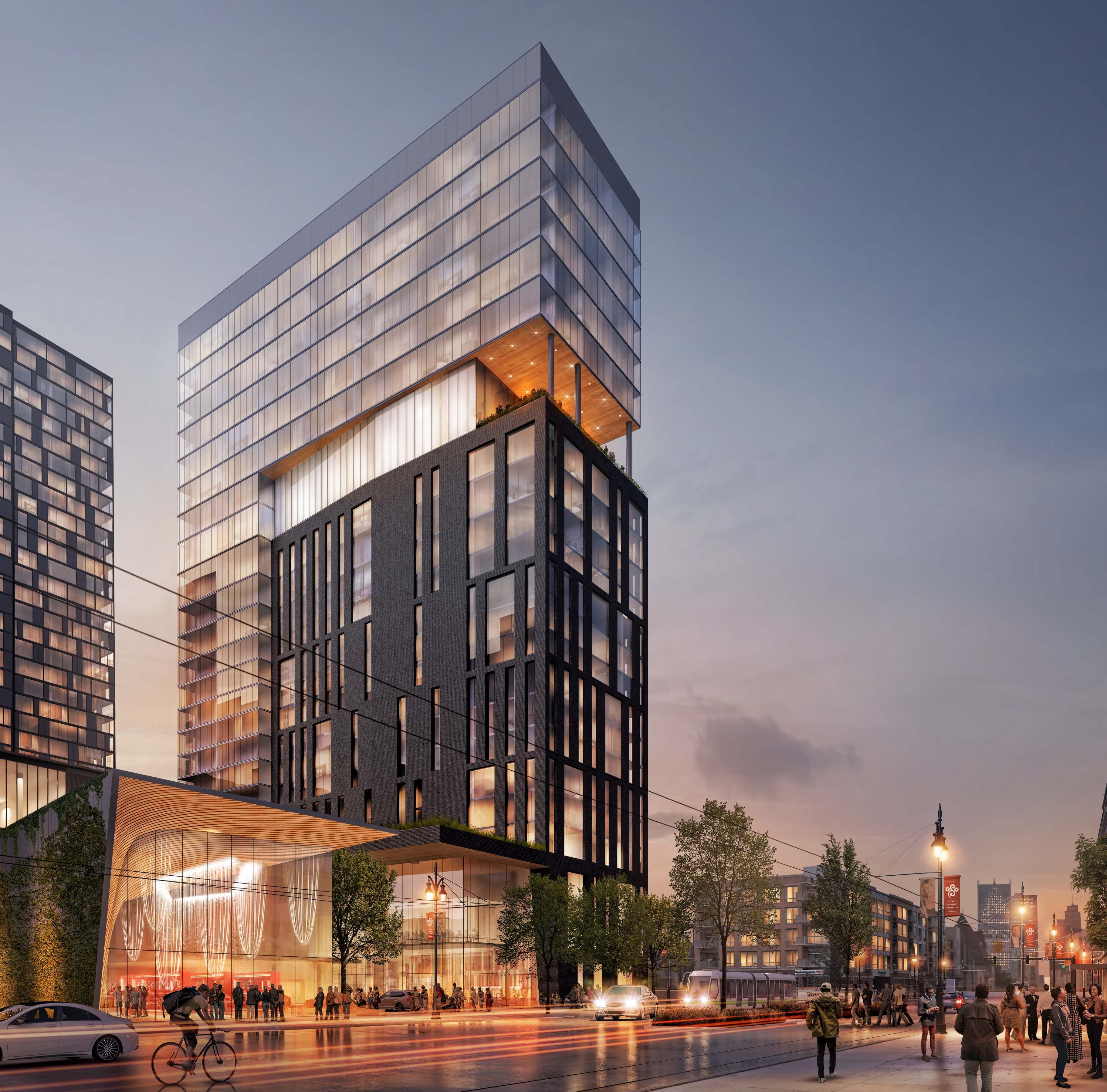 Major new high-rise, mixed-use project announced for Midtown Detroit