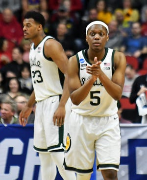 Michigan State guard Cassius Winston's leadership has been a calming influence.