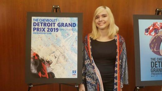 Detroit Grand Prix poster contest winner: Allie Fedak.