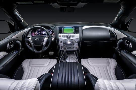 The 2019 QX80's interior.