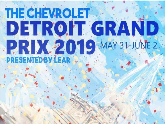 Detroit Grand Prix poster contest entry: Allie Fadek, CCS.