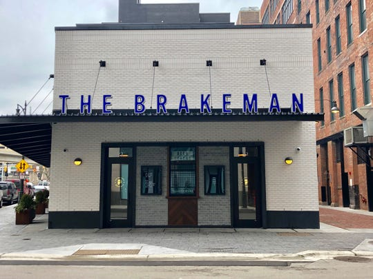 The John R entrance to the Brakeman beer hall, opening Monday in downtown Detroit.