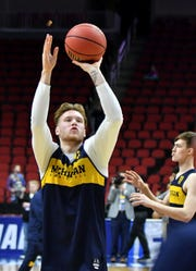 Freshman forward Ignas Brazdeikis gives the Wolverines an added element from last year's NCAA Tournament meeting with Montana.