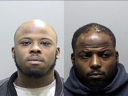 Left, Korie Trimble, 27, and his brother DeCarlos Trimble, 29, right.