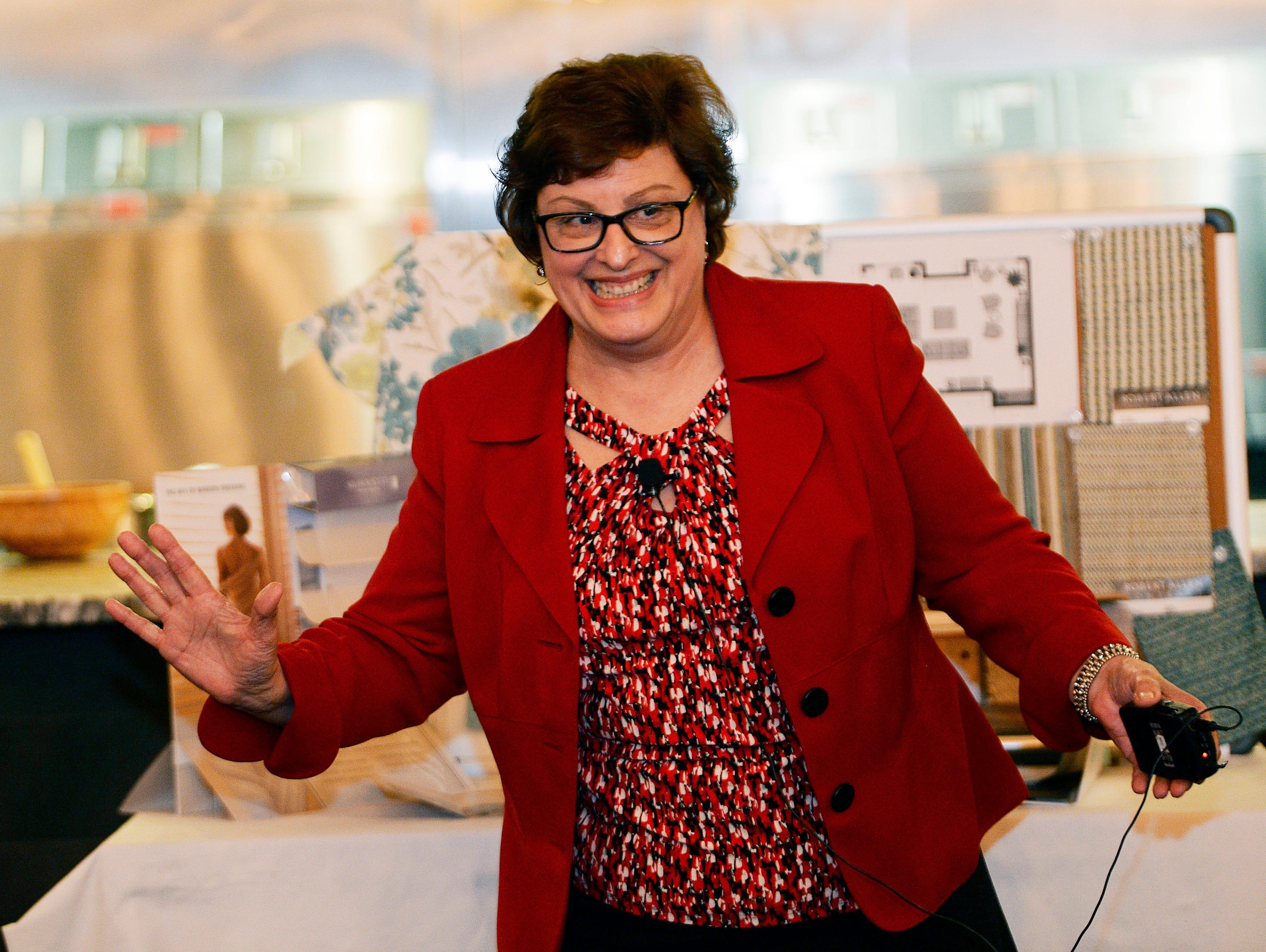Gayle McNally, interior designer, gives her presentation on how to design.