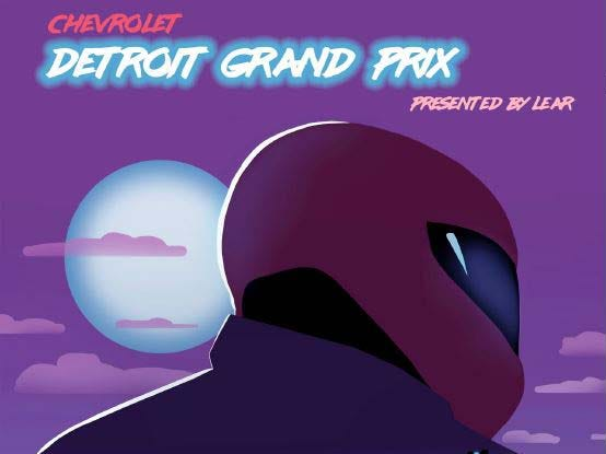 Detroit Grand Prix poster contest entry: Jonathan Kimble, CCS.