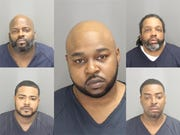 Five arrests were made, and a large quantity of narcotics was recovered, police said.