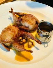 Quail a la Chasseur at Red Dunn Kitchen.