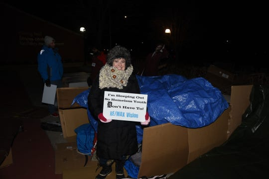 Allison Gorman sleeps out for the homeless.