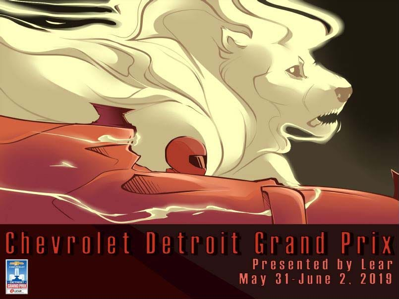 Detroit Grand Prix poster contest entry: : Gabby Lipski. CCS.