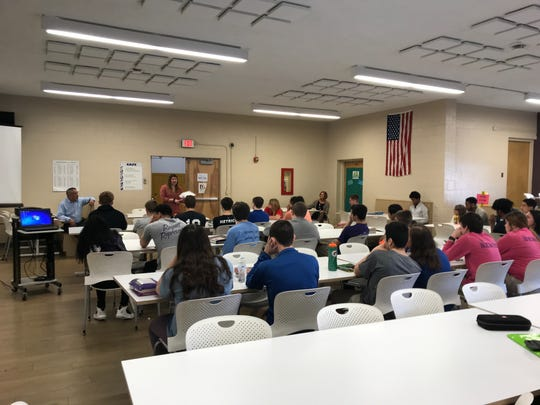 Juniors and seniors at Fremont Ross High School learn about area job opportunities