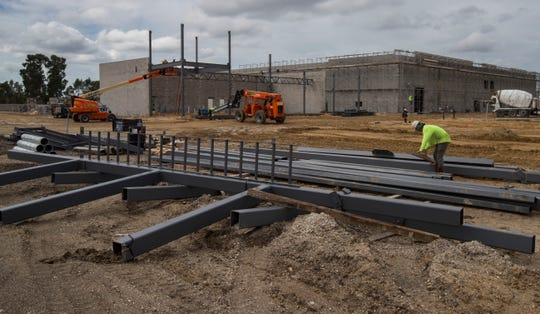 Construction is under way on a new Publix supermarket near the new CoolToday Park in North Port.