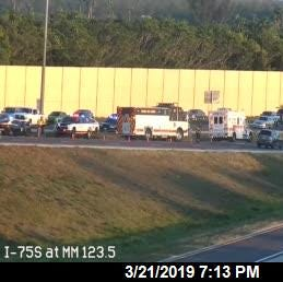 Traffic alert: Flipped truck blocking lanes on southbound I-75 in Estero