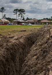 New homes are under construction at the Renaissance community in West Villages, Florida, Wednesday, March 20, 2019.
