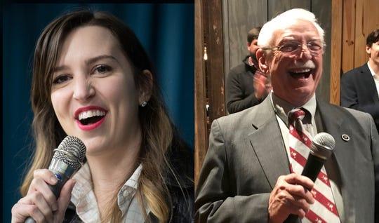 Democrat Tina Belge and Republican Dwight Loftis
