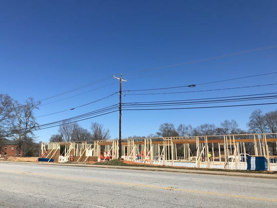 Construction of office space that will house the new headquarters of Simpsonville-based toy company Sunny Days Entertainment, LLC continues on March 6, 2019.