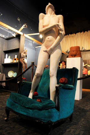 This Sarah Justice sculpture piece is the centerpiece of the art show and on priced at $4000.