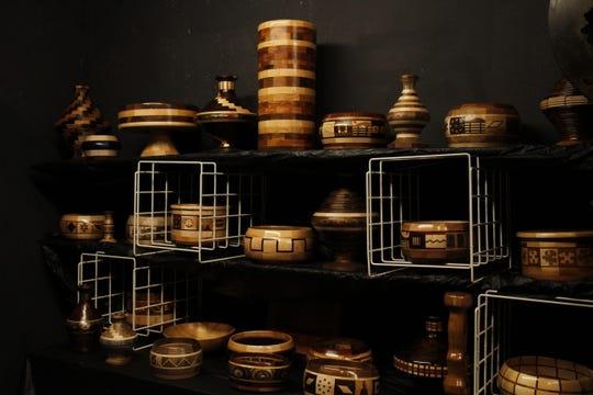 The KellerGeist Pub Art Show displays various types of contemporary art.