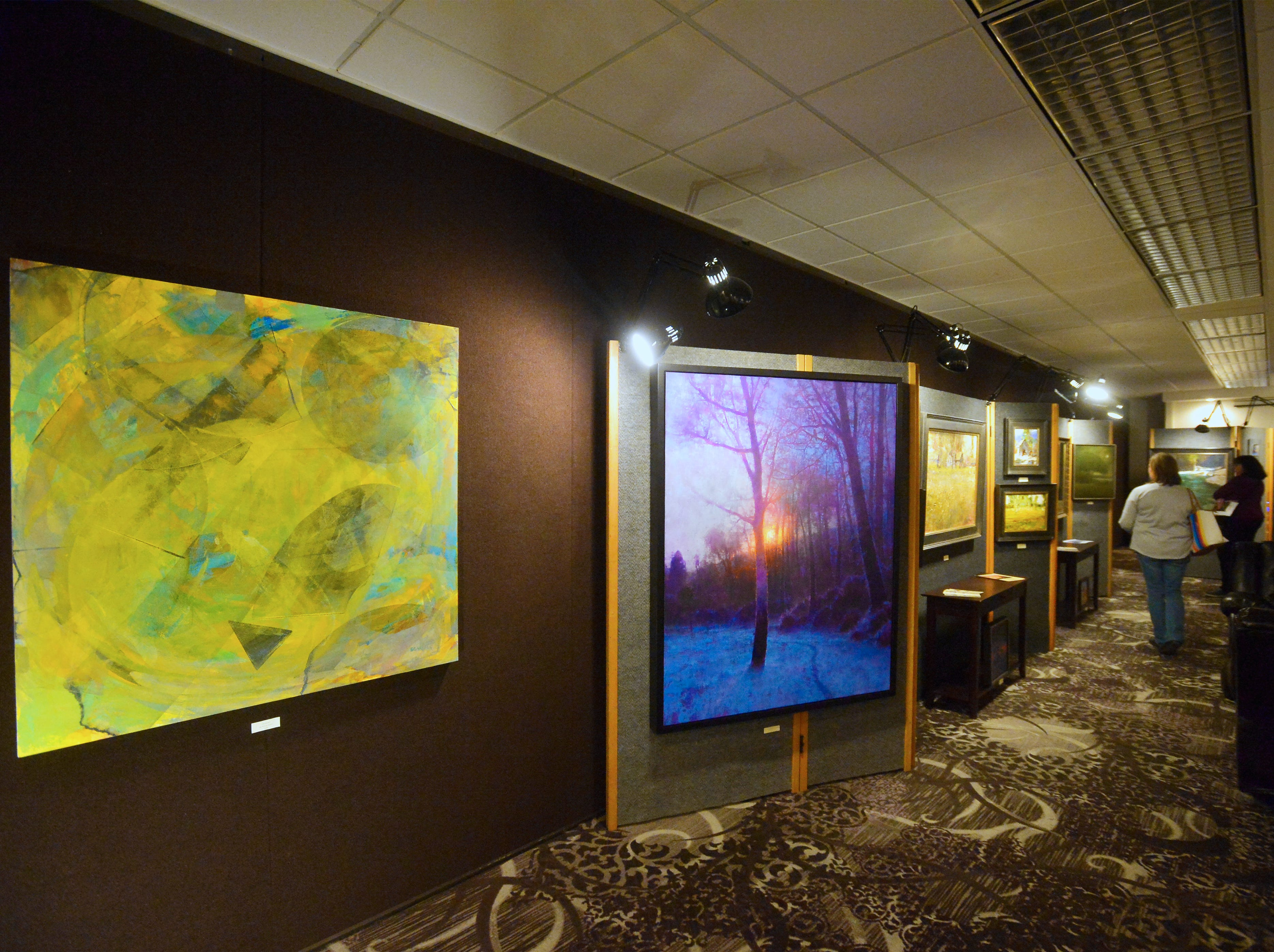 Samarah Gallery room at the Out West Art Show in the Heritage Inn.